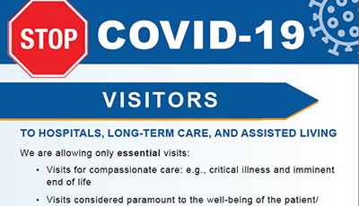 COVID-19 essential visitors poster