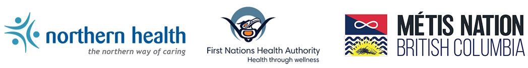 Northern Health, FNHA and Metis logos