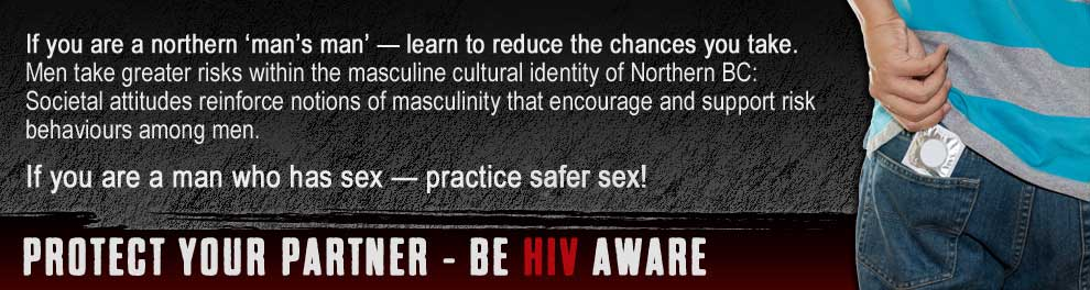 If you are a man who has sex - practice safe sex poster