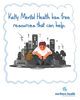 Kelty Mental Health has free resources that can help.