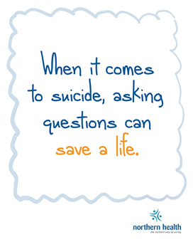 When it comes to suicide, asking questions can save a life.