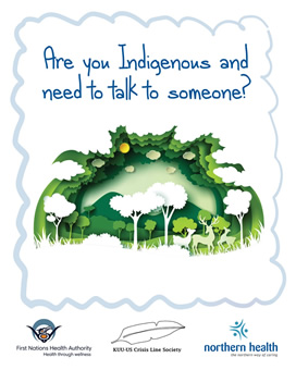 Are you Indigenous and need to talk to someone?