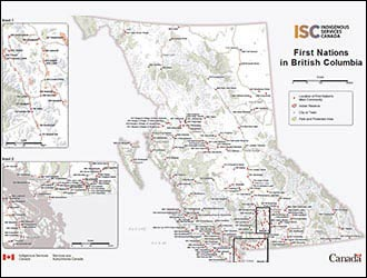 FIrst Nations BC Map