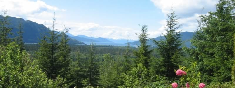 A view of Douglas Channel from Kitimat viewpoint