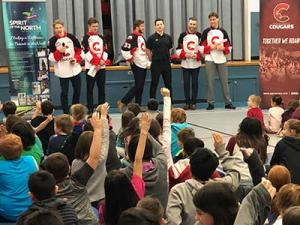 Prince George Cougars participating in Spirit of Healthy Kids program